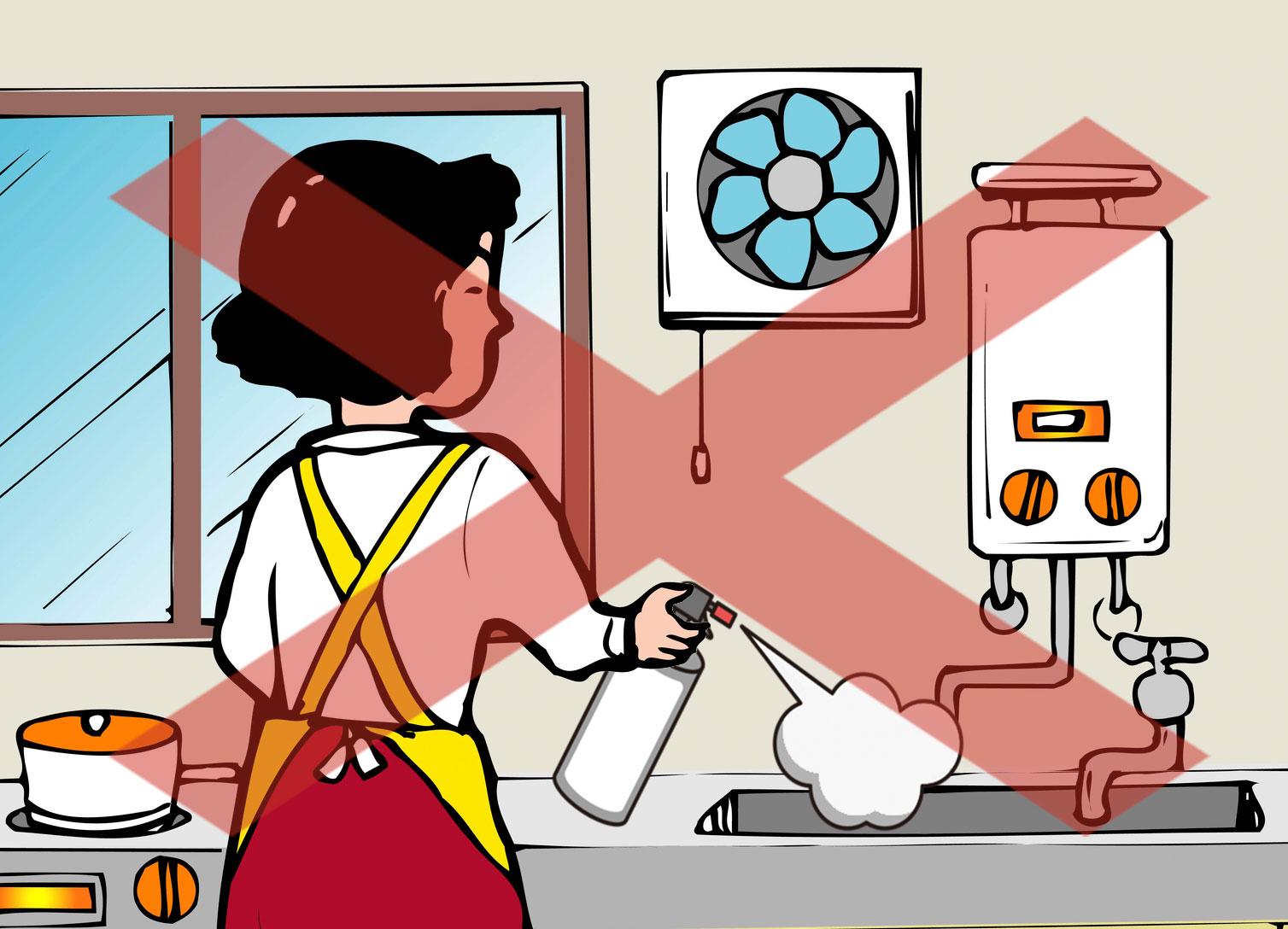 スプレー缶の中身出し:キッチン(シンク)での作業は危険