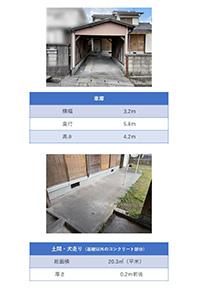 現地調査シート(車庫・土間・犬走り)