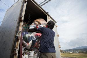 整理のゴダイ3トントラックへの詰め込み