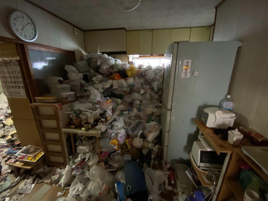 ごみ屋敷・汚部屋清掃 作業実績 ビフォー